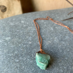 "24"" Emerald Necklace on Copper Chain by Hawkhouse"