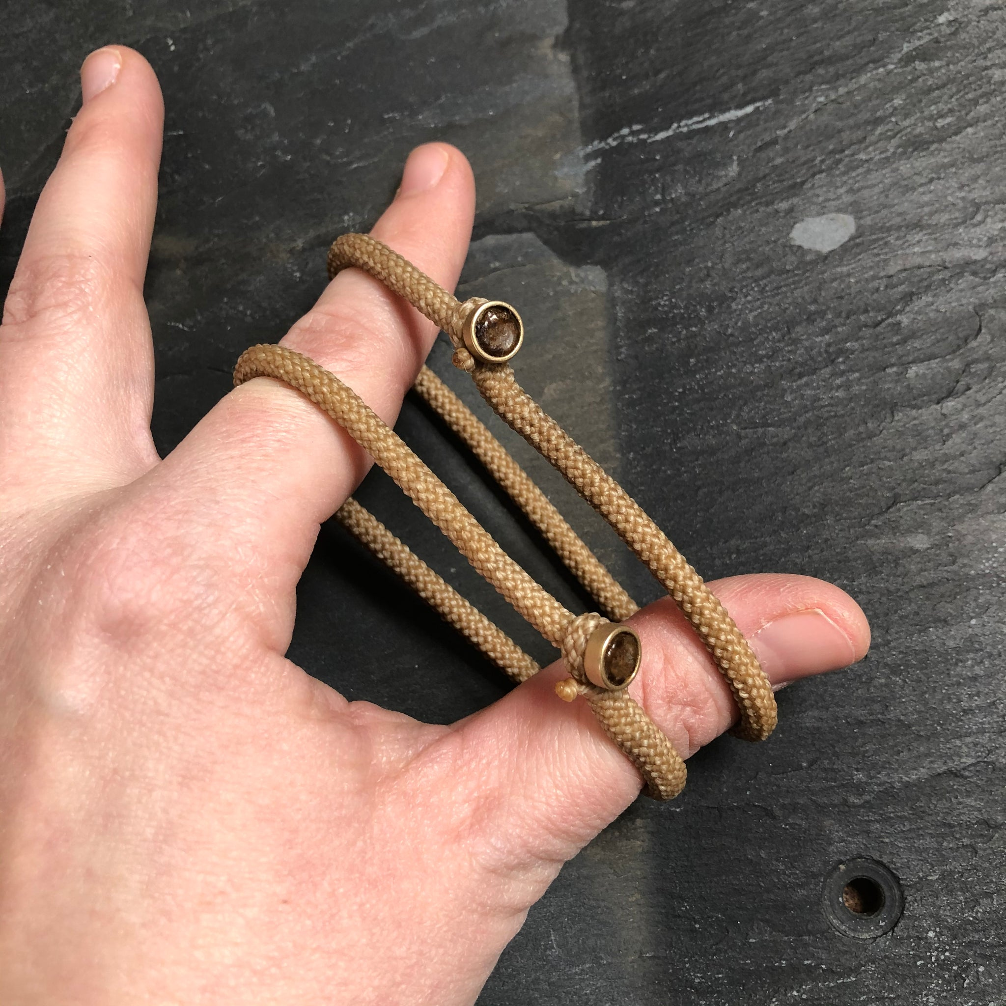 Soft Shackle Bracelet in Brass by Cat Bates - Upstate MN