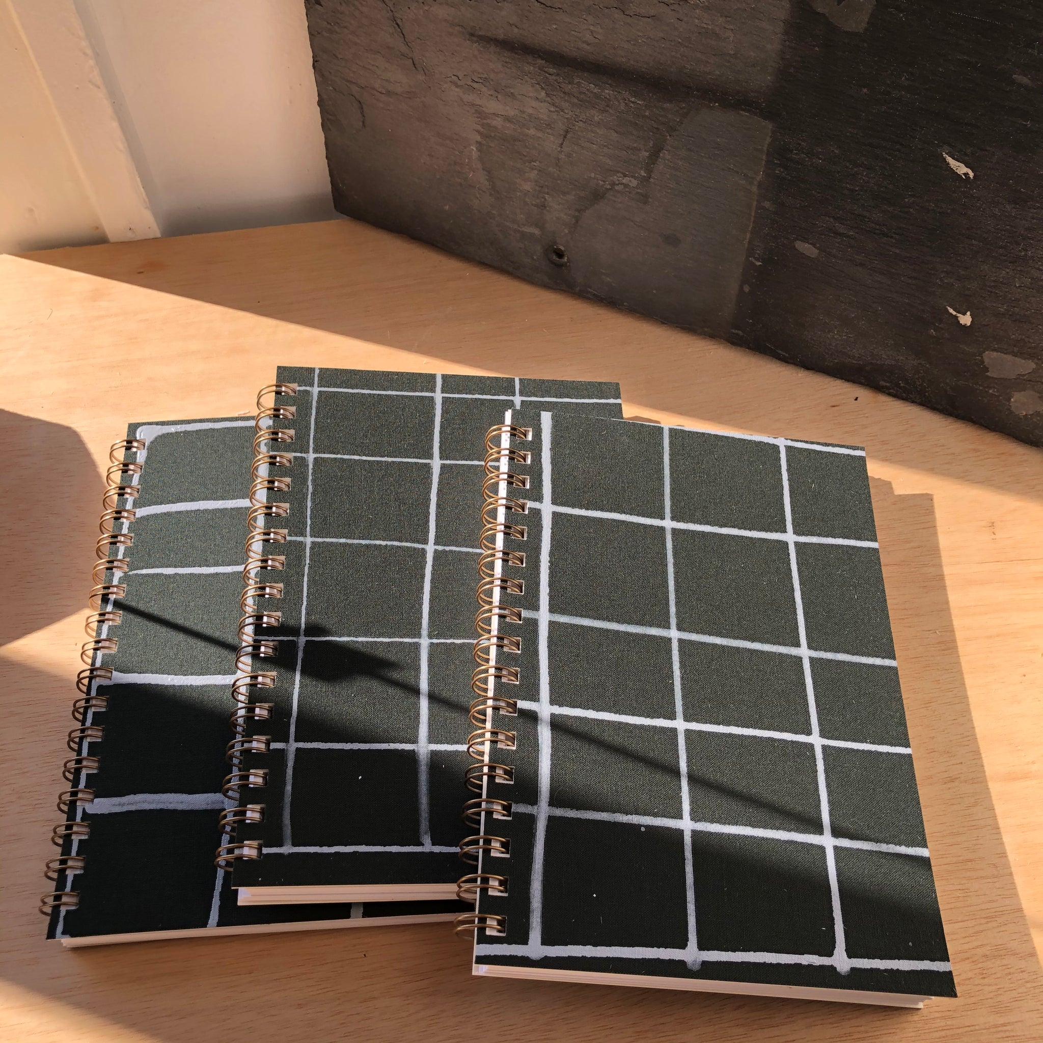 Painted Notebook Green Grid By Mōglea - Upstate MN