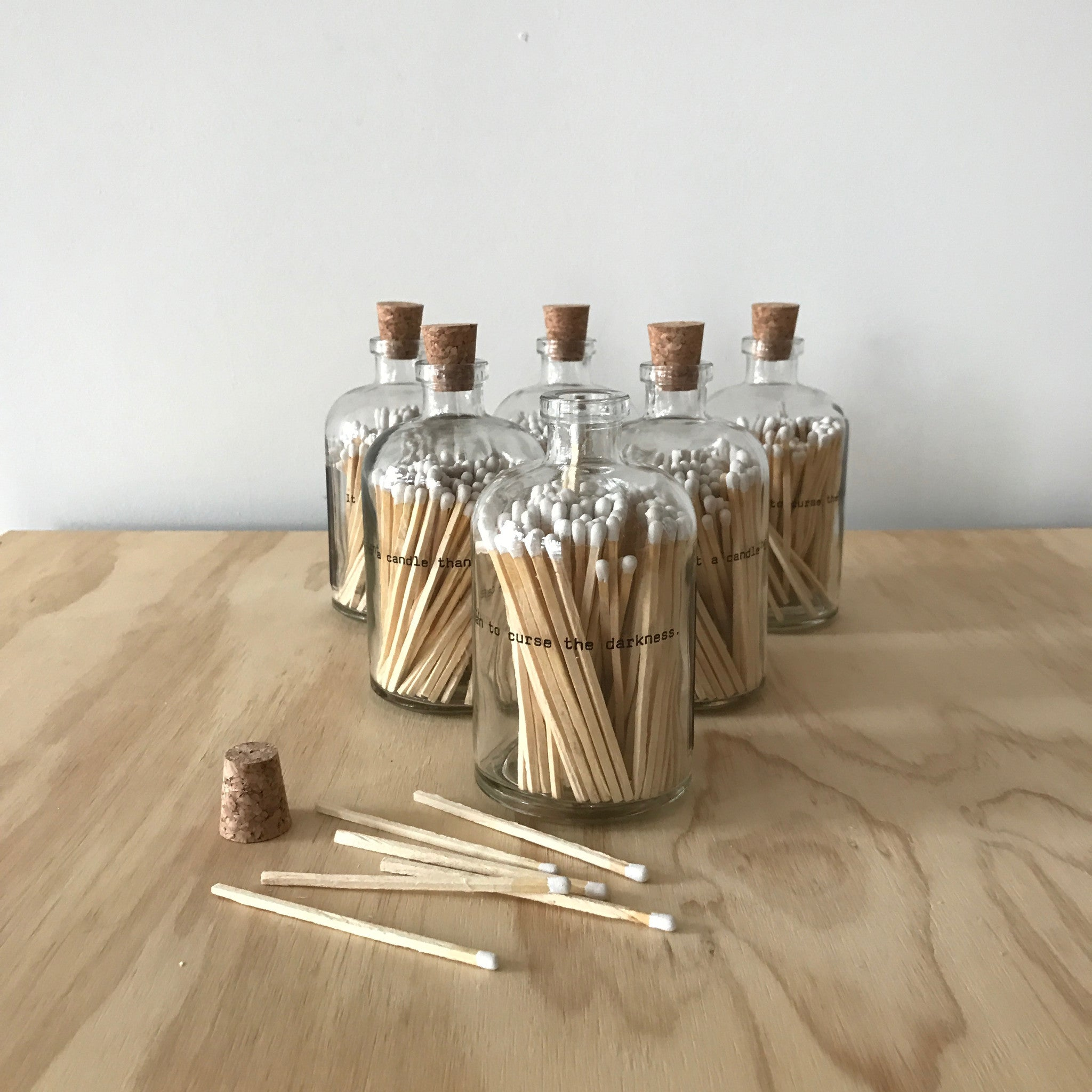 Apothecary Jar Poetry Matches by Skeem Design - Upstate MN