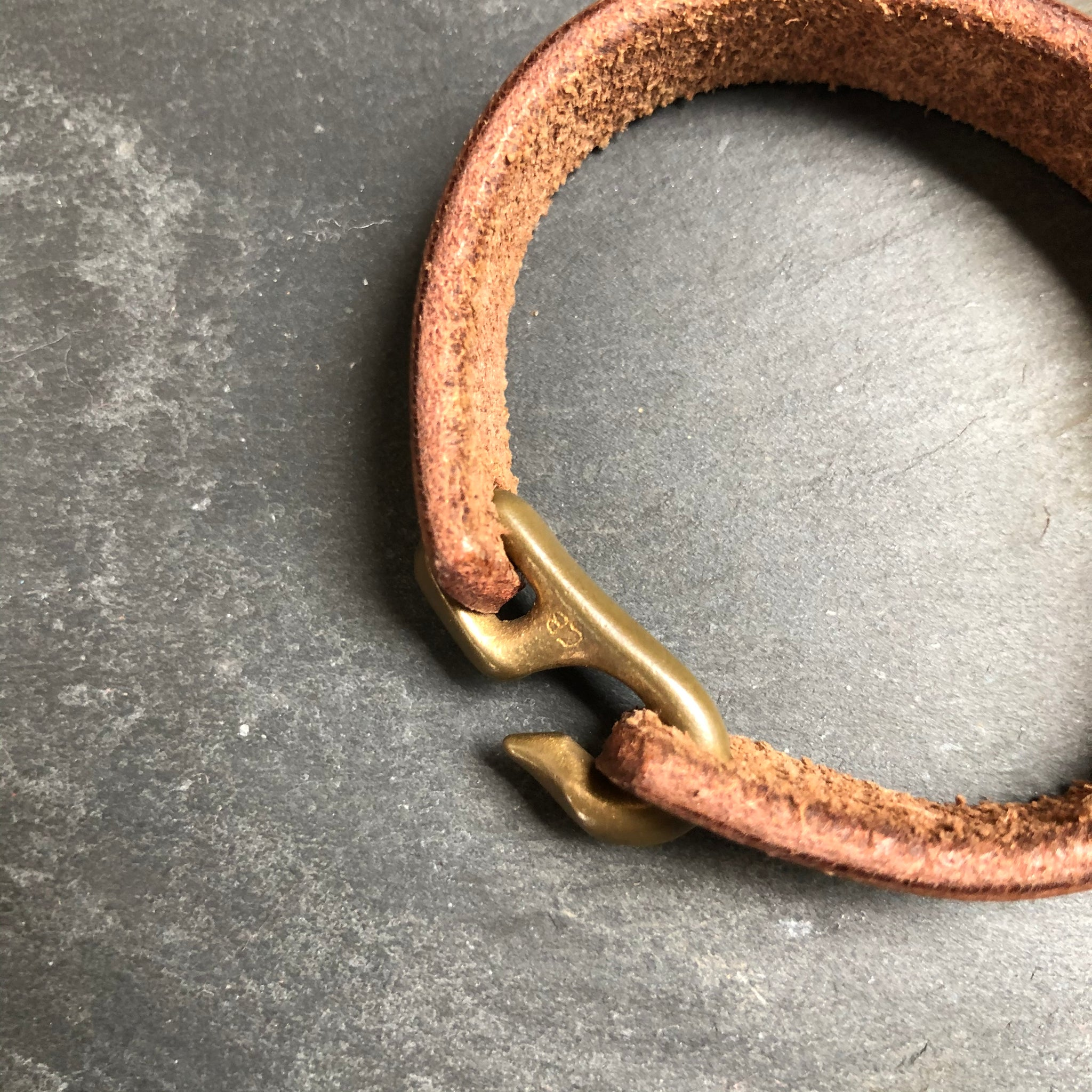 Cygnet Hook Bracelet in Brass by Cat Bates - Upstate MN