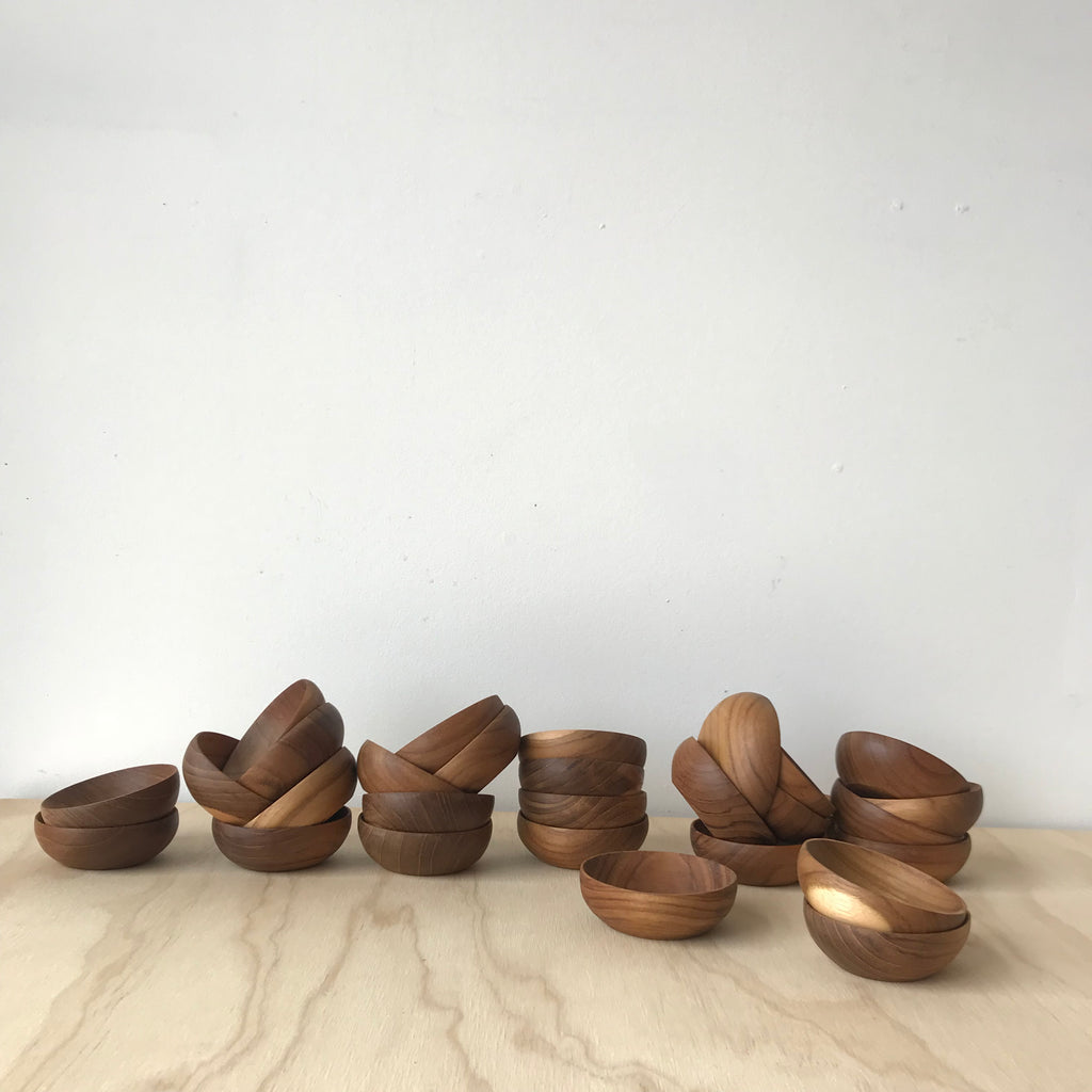 Small Teak Bowl - Upstate MN
