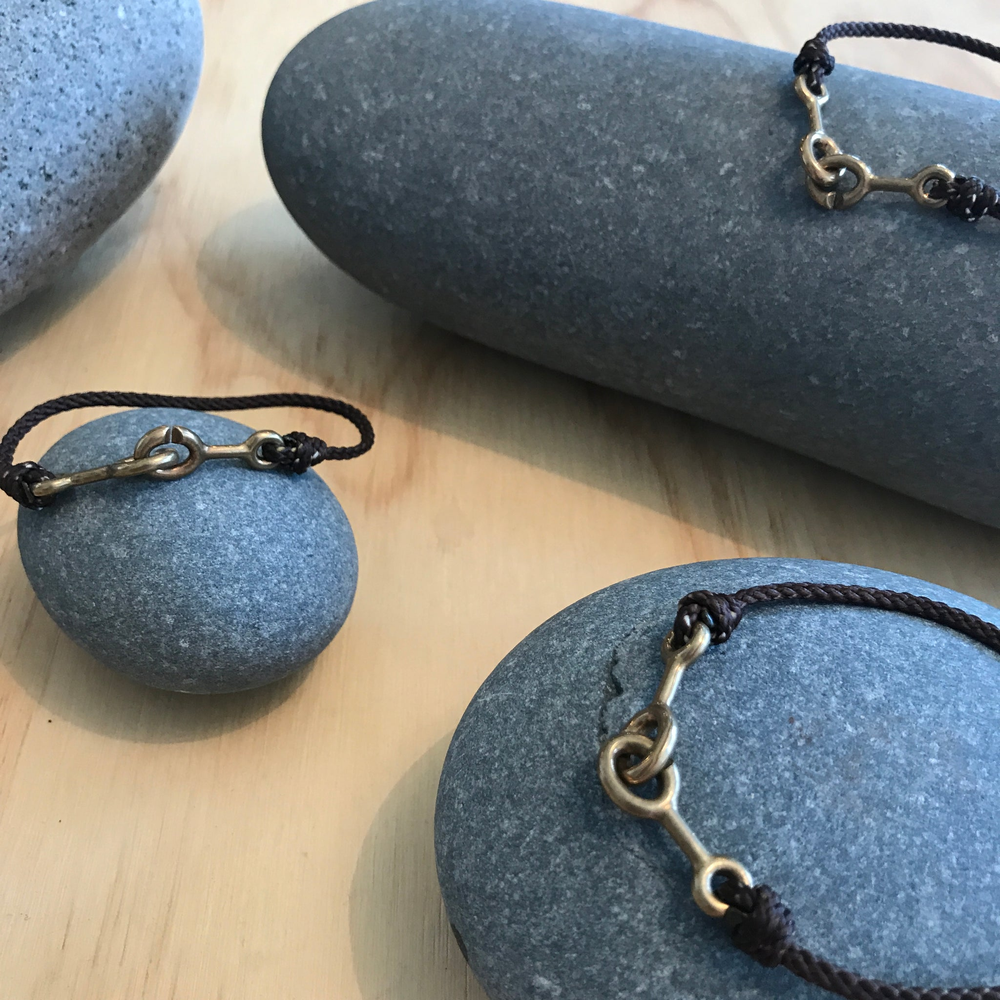 Sister Clasp Jewelry in Near Black Nylon by Cat Bates - Upstate MN