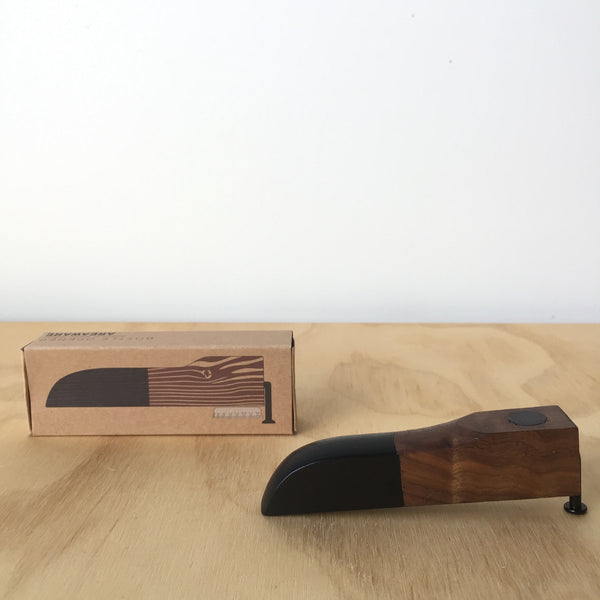 Walnut and Black Bottle Opener by Brendan Ravenhill for Areaware