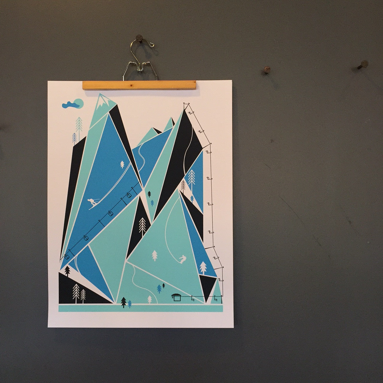 SKI HILL Screenprint by We Are Brainstorm - Upstate MN