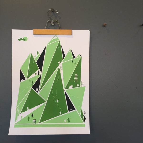 MOUNTAIN HIKE Screenprint by We Are Brainstorm - Upstate MN