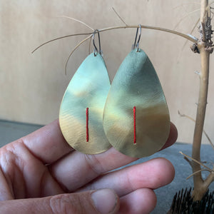 Brass Teardrop Earrings by Eric Silva