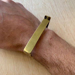 Brass Hinged Bracelet by Eric Silva - Upstate MN