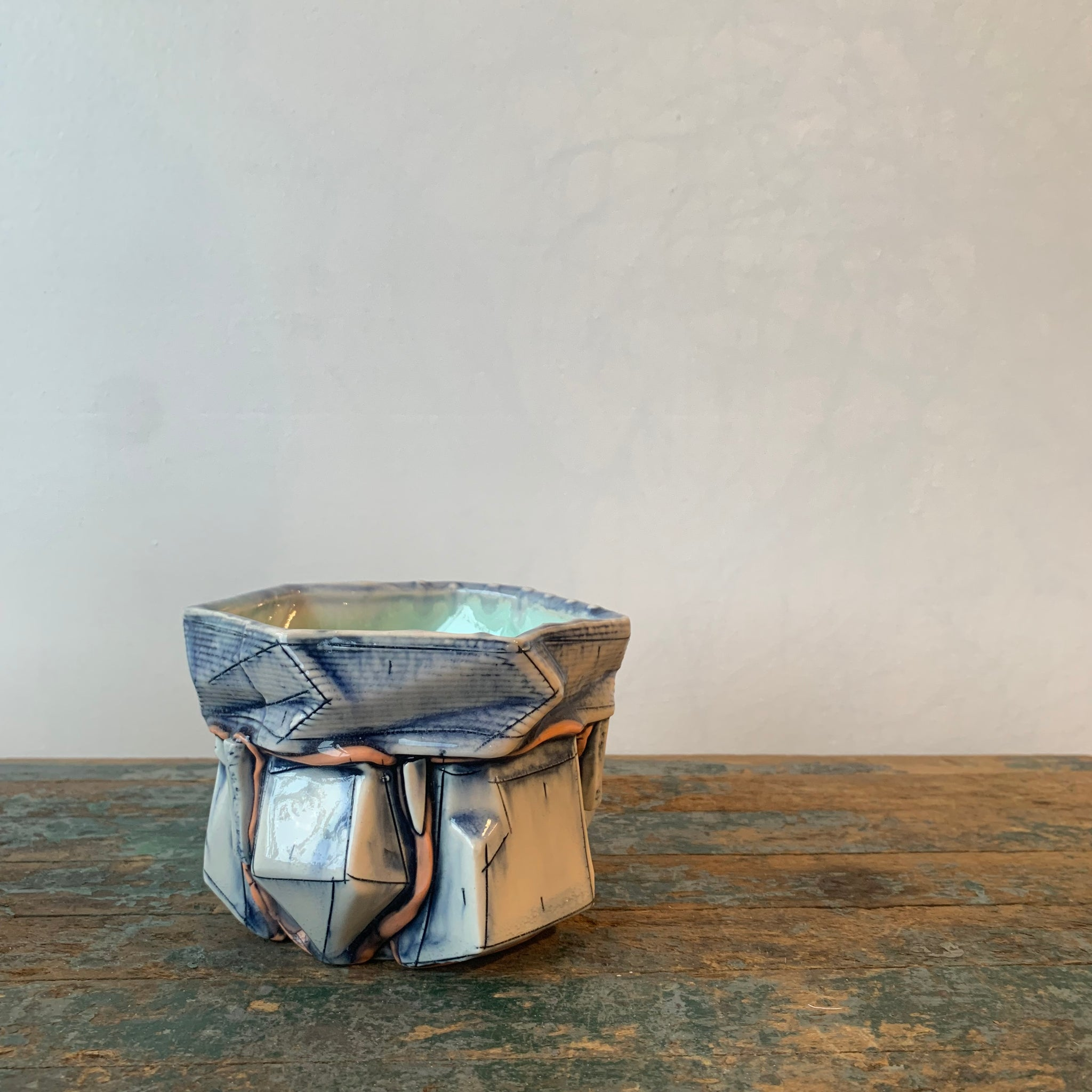 Ceramic Gem Pot by Brett Freund - Upstate MN