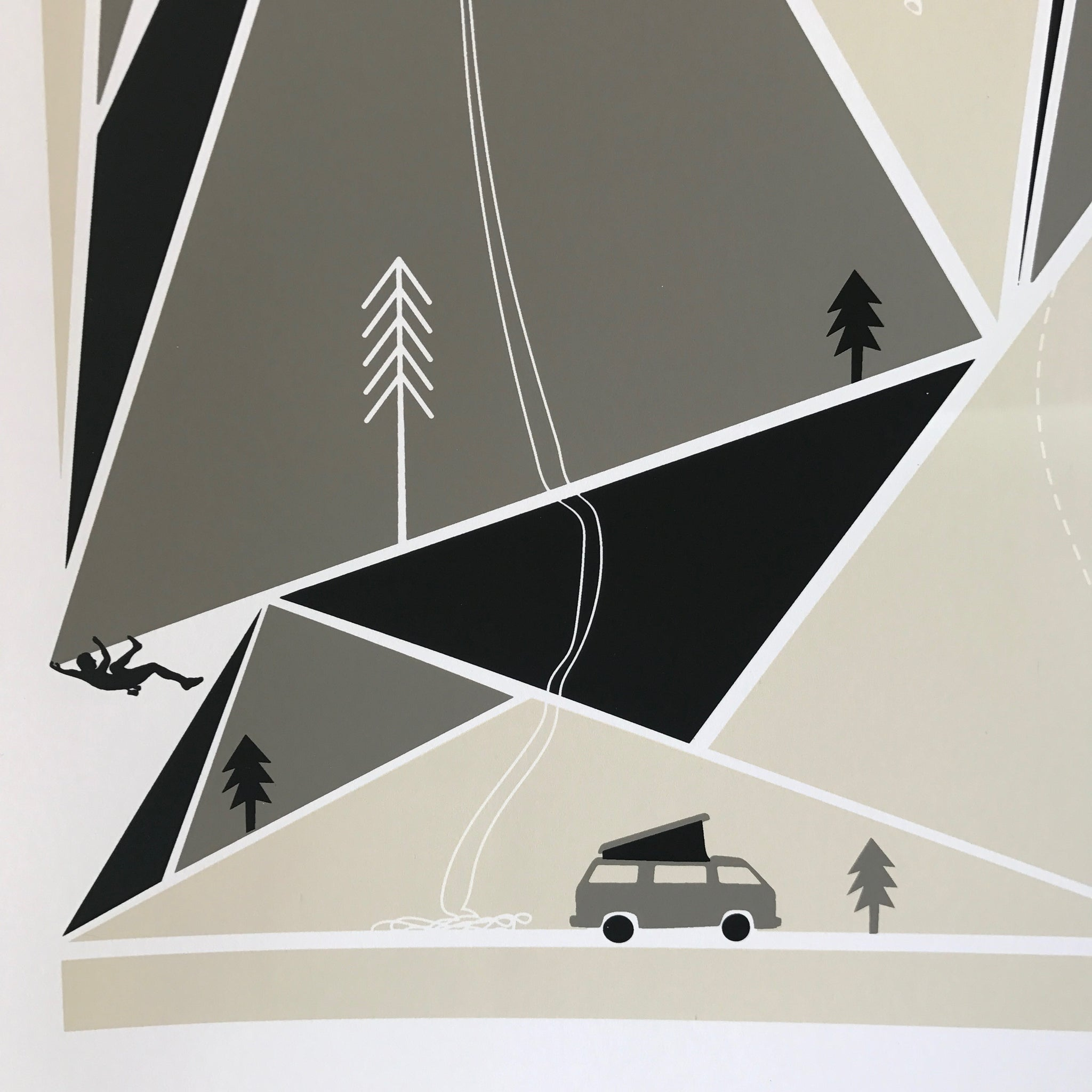 Climbing Screenprint by Brainstorm - Upstate MN