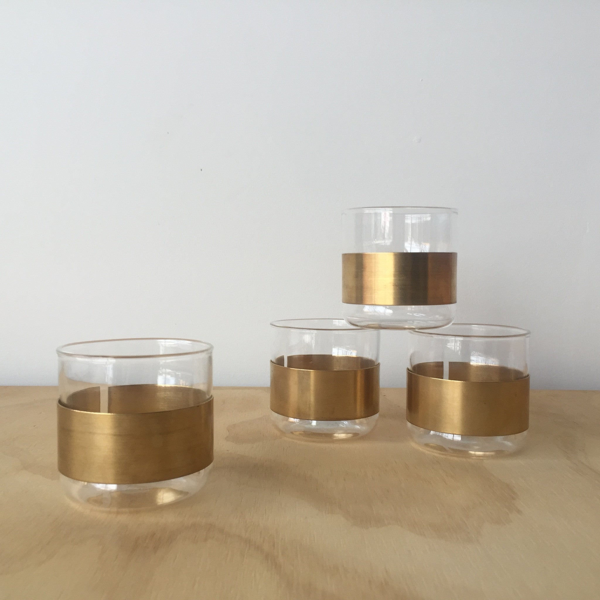 Brass Banded Glass by Serax