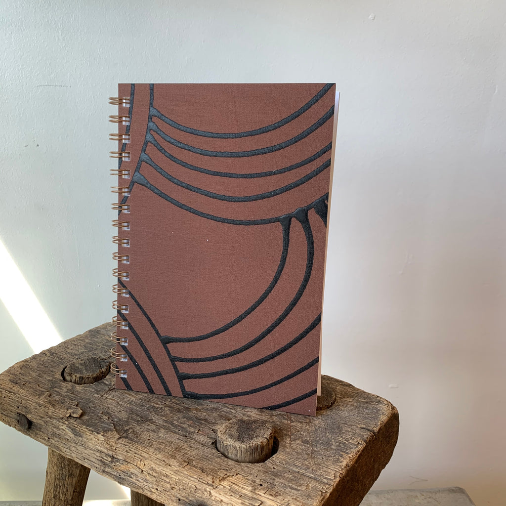 Painted Notebook 'Terra' By Mōglea