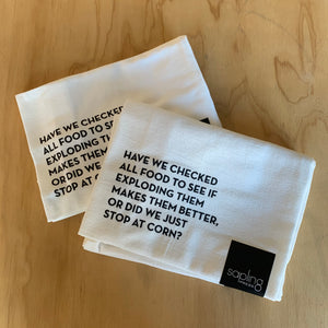 Corn Tea Towel by Sapling Press