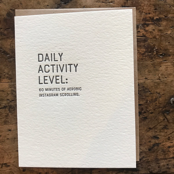 Aim High: Instagram Scrolling Letterpress Greeting Card by Sapling Press - Upstate MN