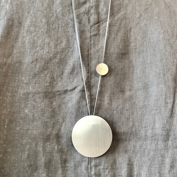The Minimal Form Stainless Steel Circle Necklace by Days of August