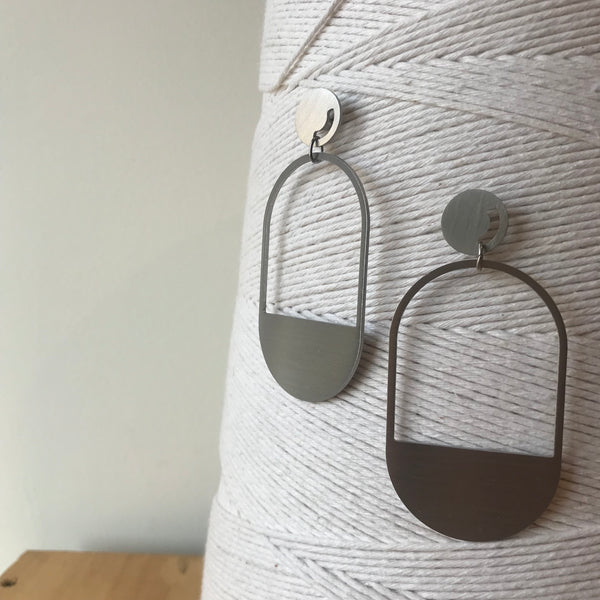 The Capsule Stainless Steel Earrings by Days of August - Upstate MN