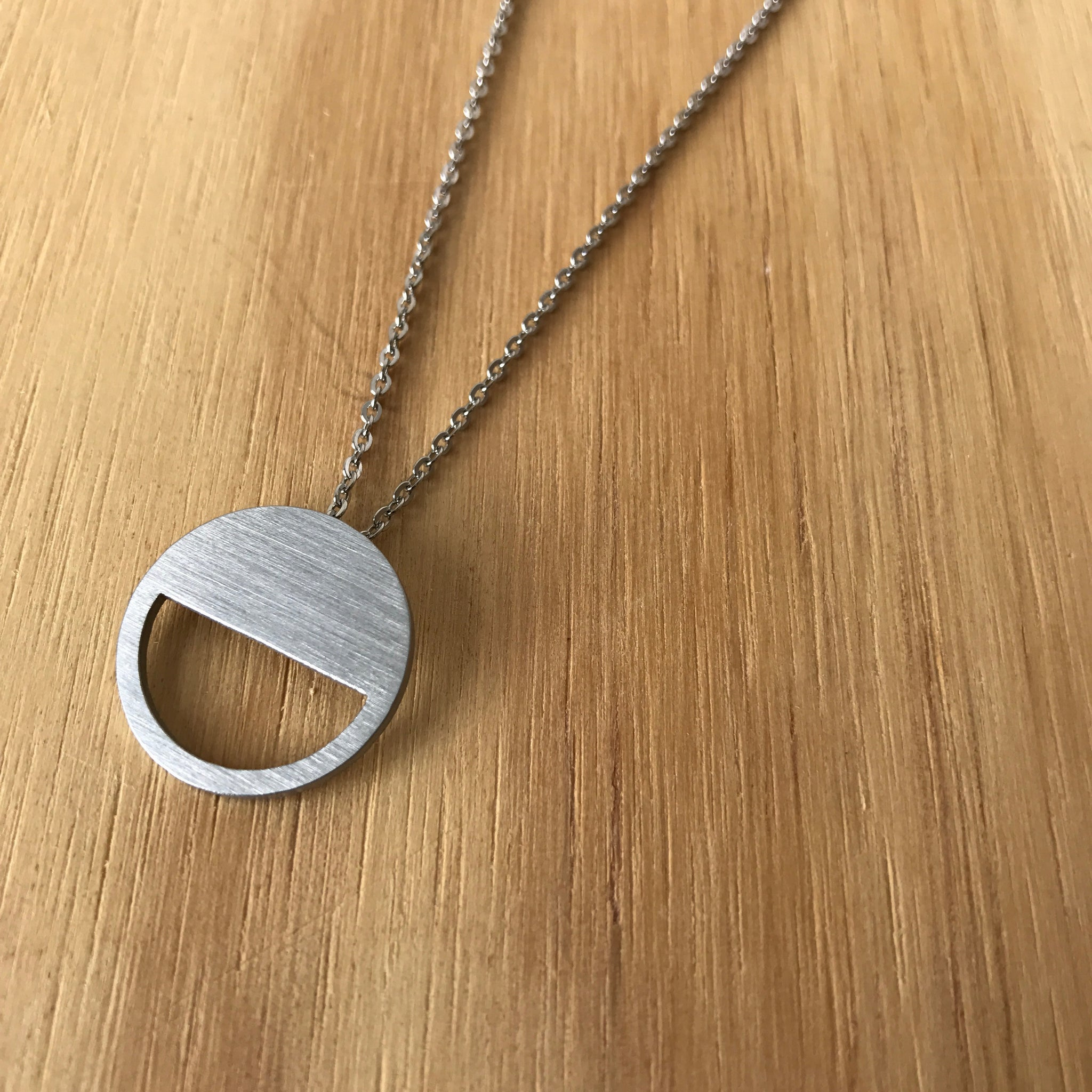 The Circle Cutout Stainless Steel Necklace by Days of August