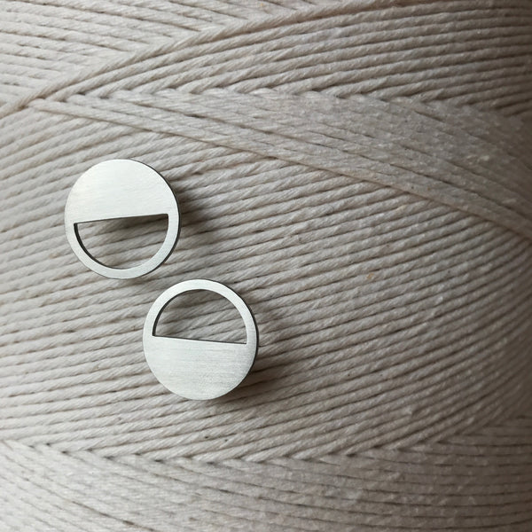The Circle Cutout Stainless Steel Stud Earrings by Days of August