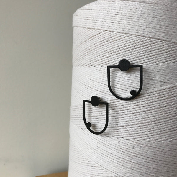 The Swing Stainless Steel Powder-coated Earrings by Days of August