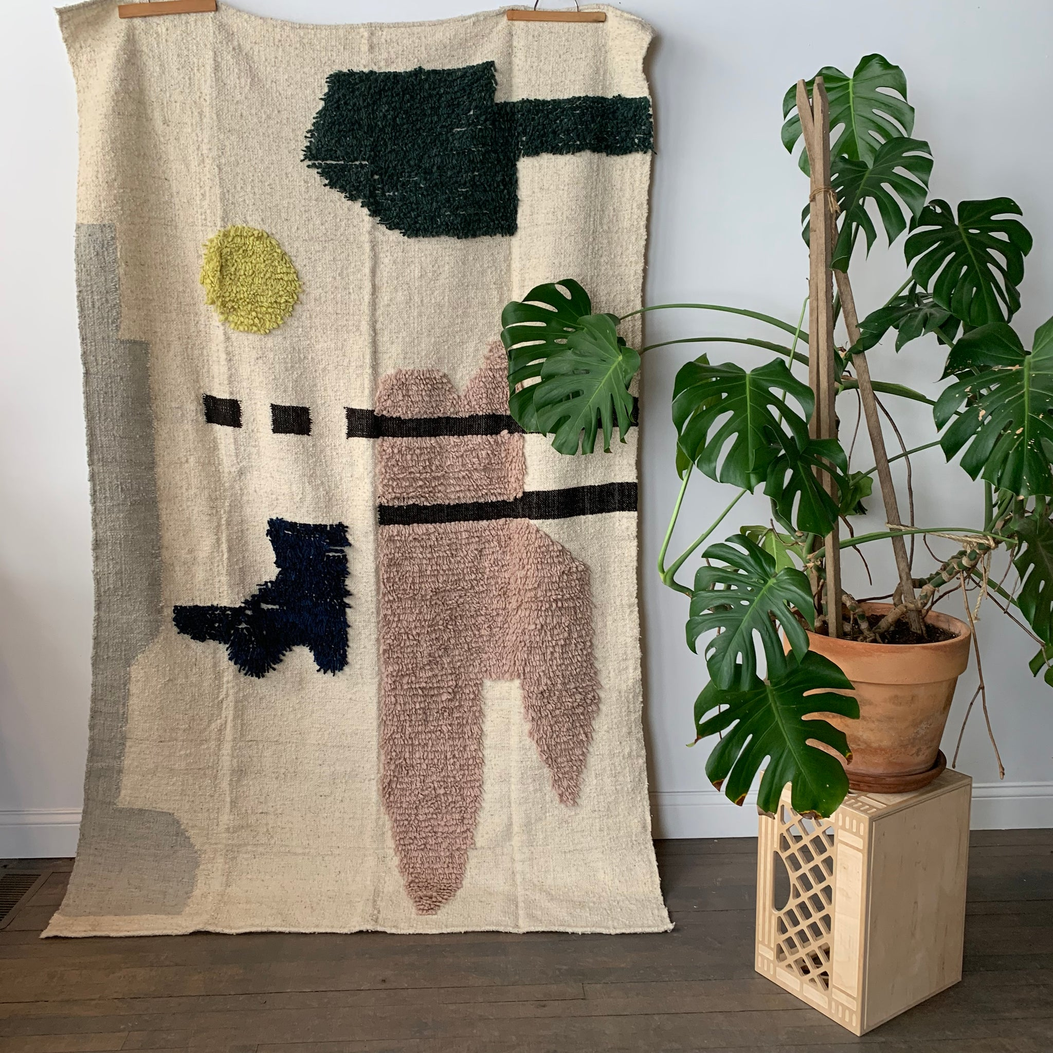 Dove Handmade Wool Rug by Meso Goods - Upstate MN
