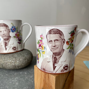 Dr. Anthony Fauci Decorated Ceramic Mug by Justin Rothshank