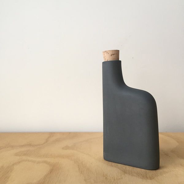 Porcelain Flask in Black by Edgewood Made