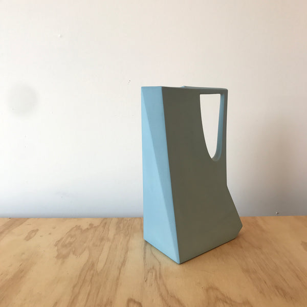 Porcelain Pitcher in Sky Blue by Edgewood Made