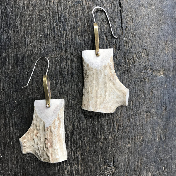 Large Antler Earrings by Eric Silva - Upstate MN