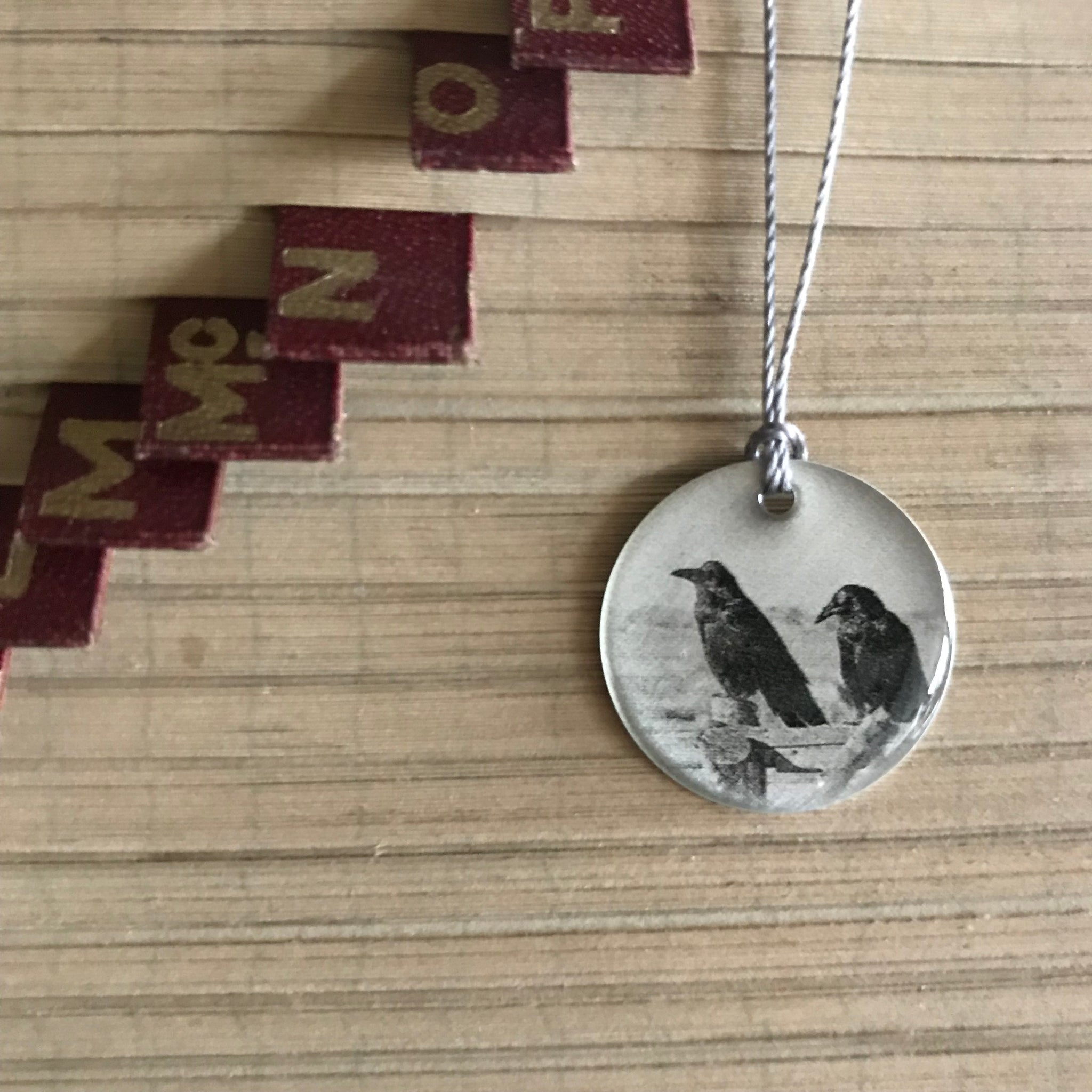 Two Ravens Photo Necklace by Everyday Artifact