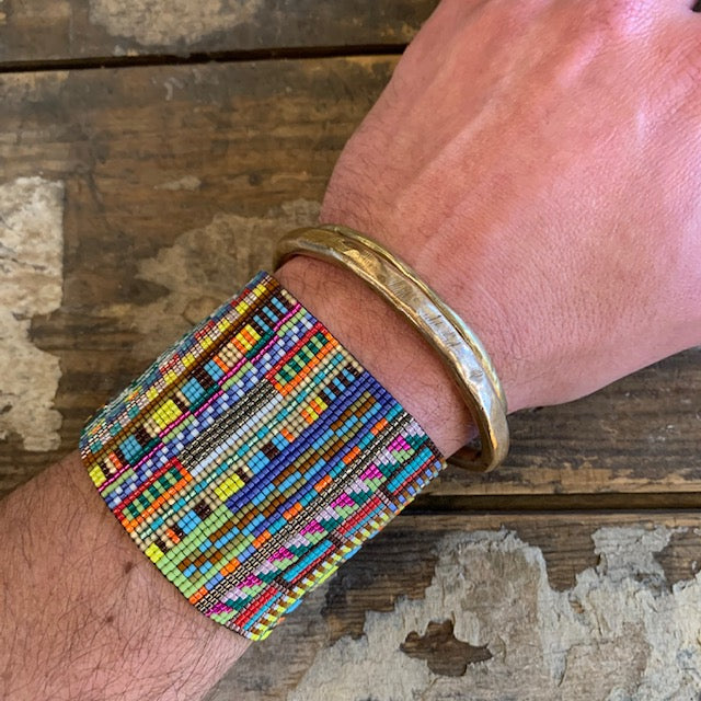 Extra Large RIO Bead Mosaic Bracelet by Julie Rofman