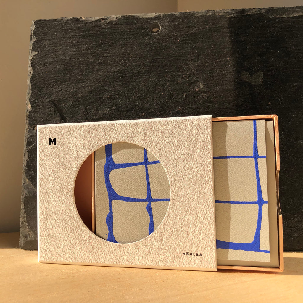 Blue Grid Stationery Set By Mōglea - Upstate MN