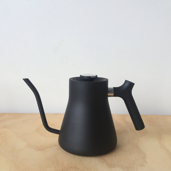 Stagg Matte Black Kettle with Thermometer by Fellow - Upstate MN