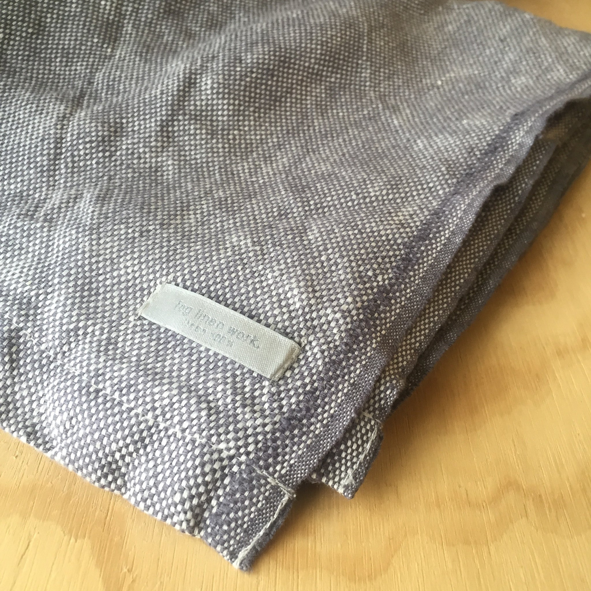 Linen Chambray Throw in Gray by Fog Linen