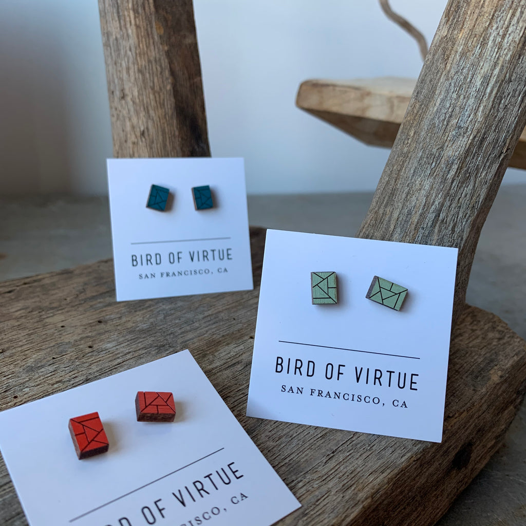 Freja Stud Earrings by Bird of Virtue