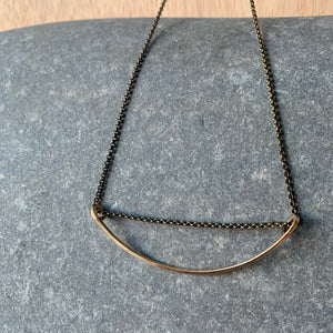 Gentle Form Brass Necklace by Jovy Rockey