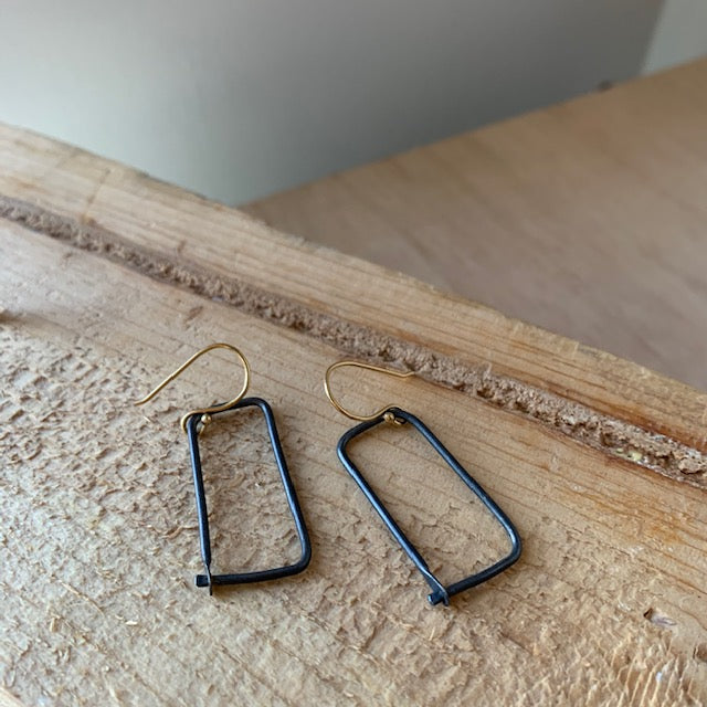 Geometric Form Earrings by Eric Silva - Upstate MN