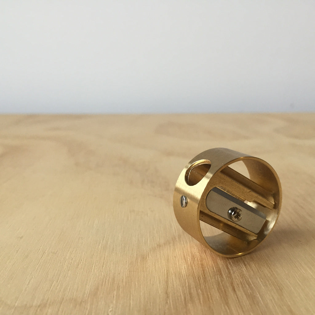 Outer Ring Brass Pencil Sharpener - Upstate MN
