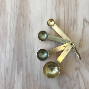 Brass Toned Measuring Spoons - Upstate MN