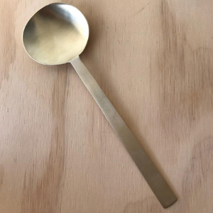 Hand-Forged Large Brass Spoon by Fog Linen