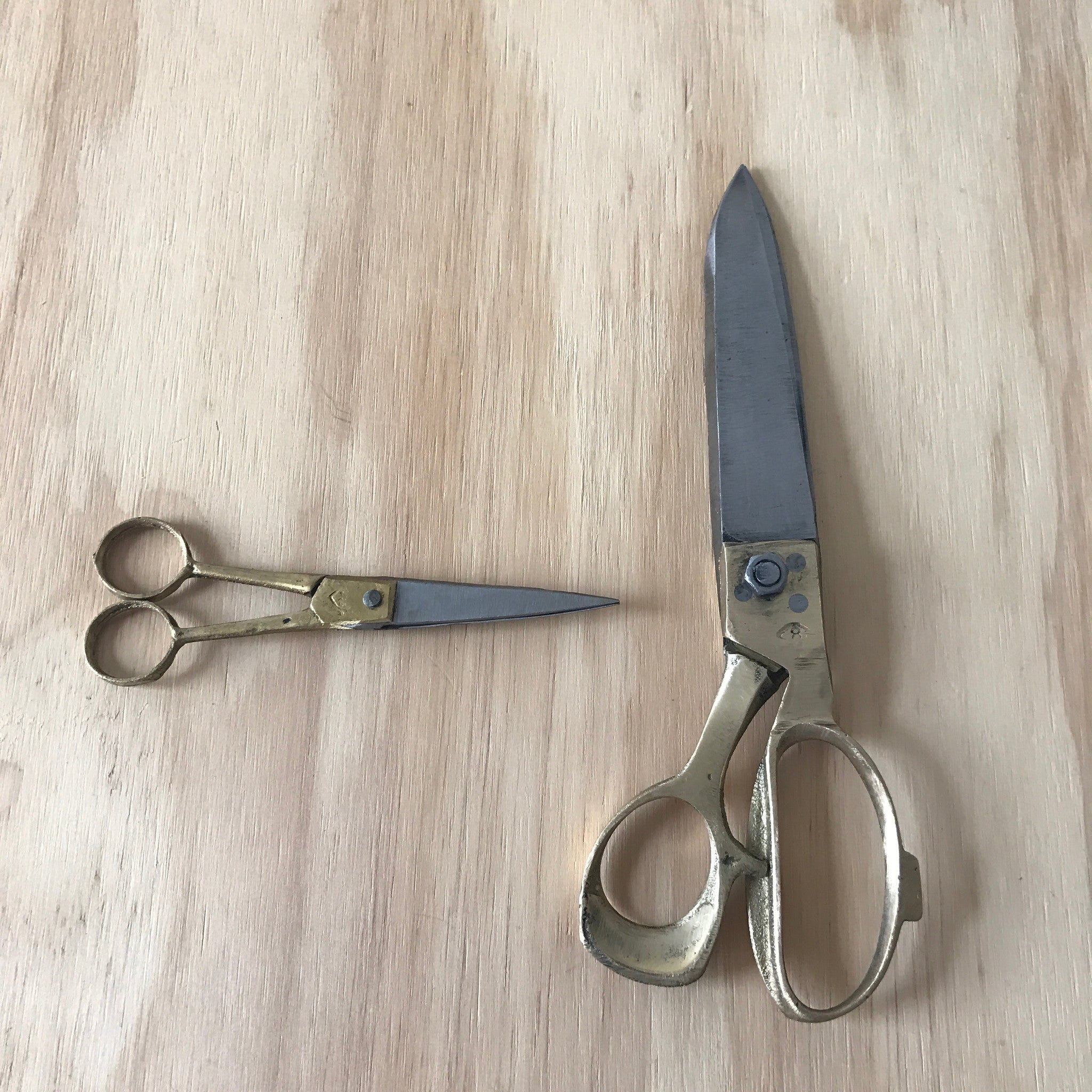 Brass Handled Craft Scissors – Small