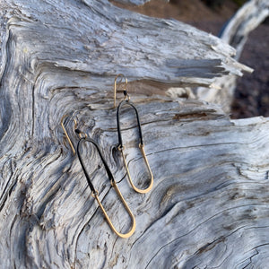 Half and Half Earrings by Tiffany Zal-Herwitz for Zalias Jewelry