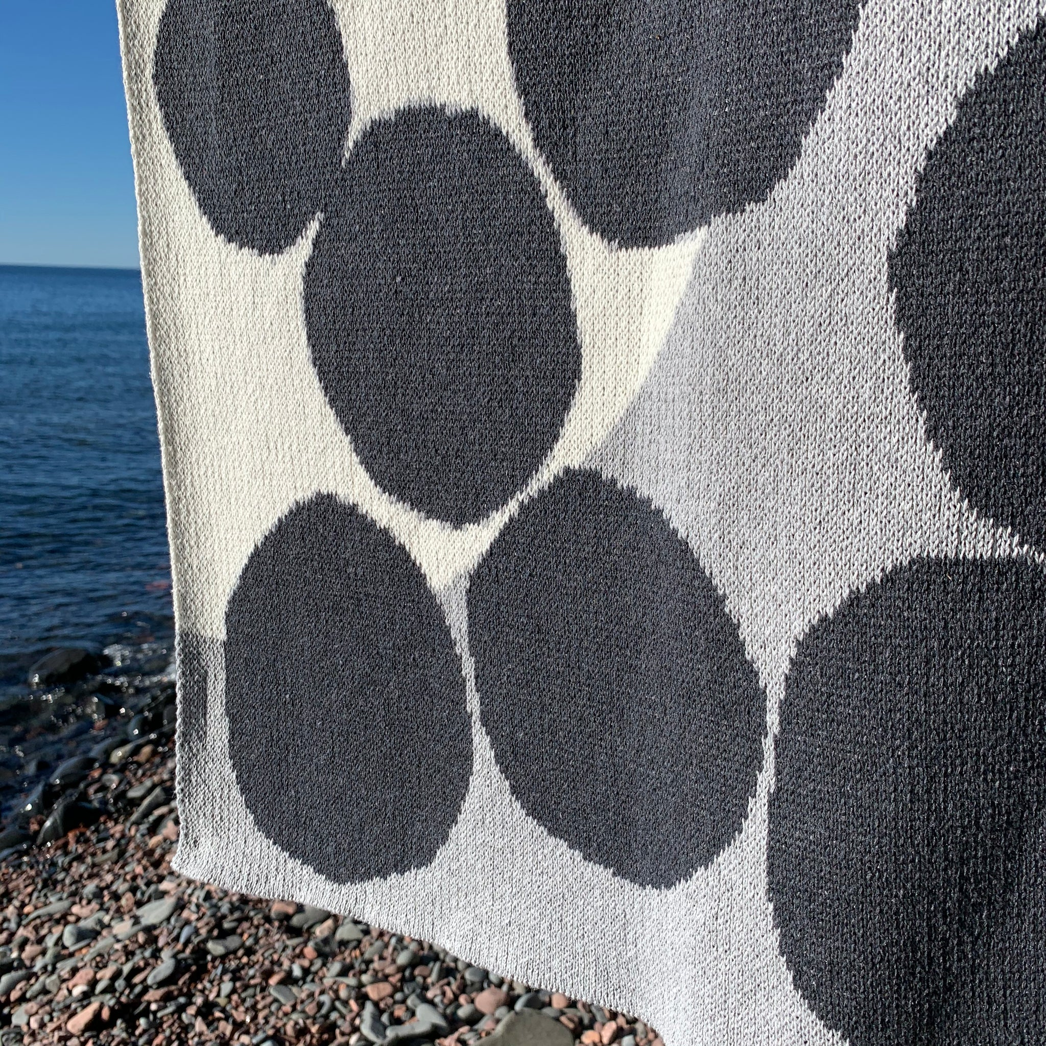 Huey Eco Throw in Gray by Suzy Pilgrim Waters for In2Green