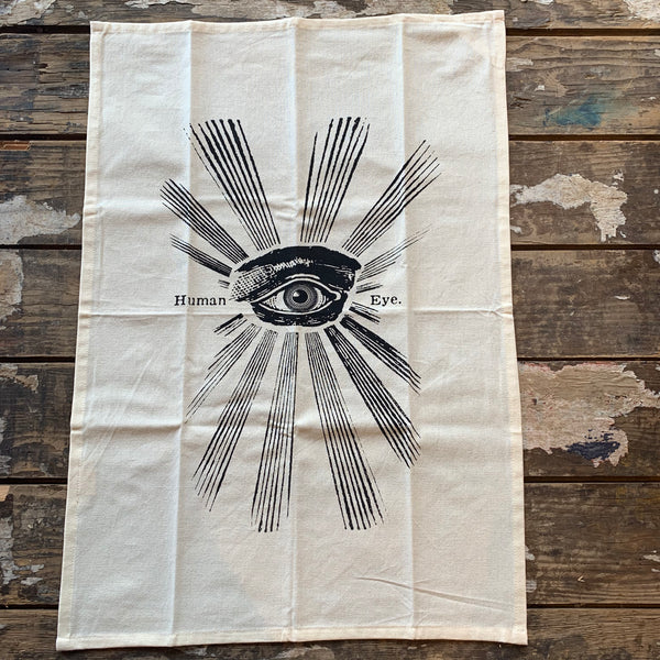 Human Eye Kitchen Towel by The Rise and Fall