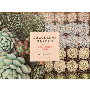 Puzzle 500 Two Sided Succulent Garden