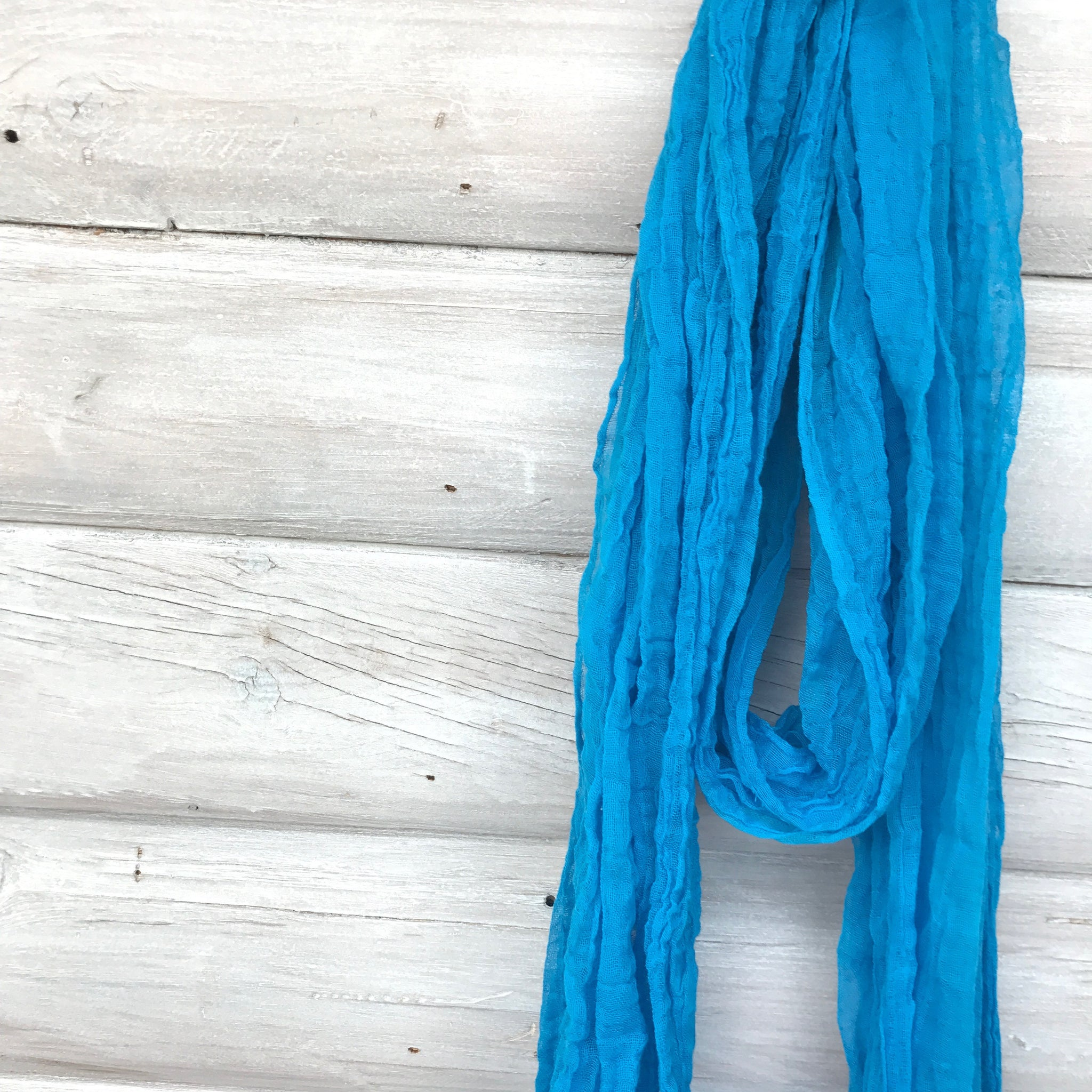 Cotton Scarf in Tennis Shoe Blue by Scarfshop - Upstate MN