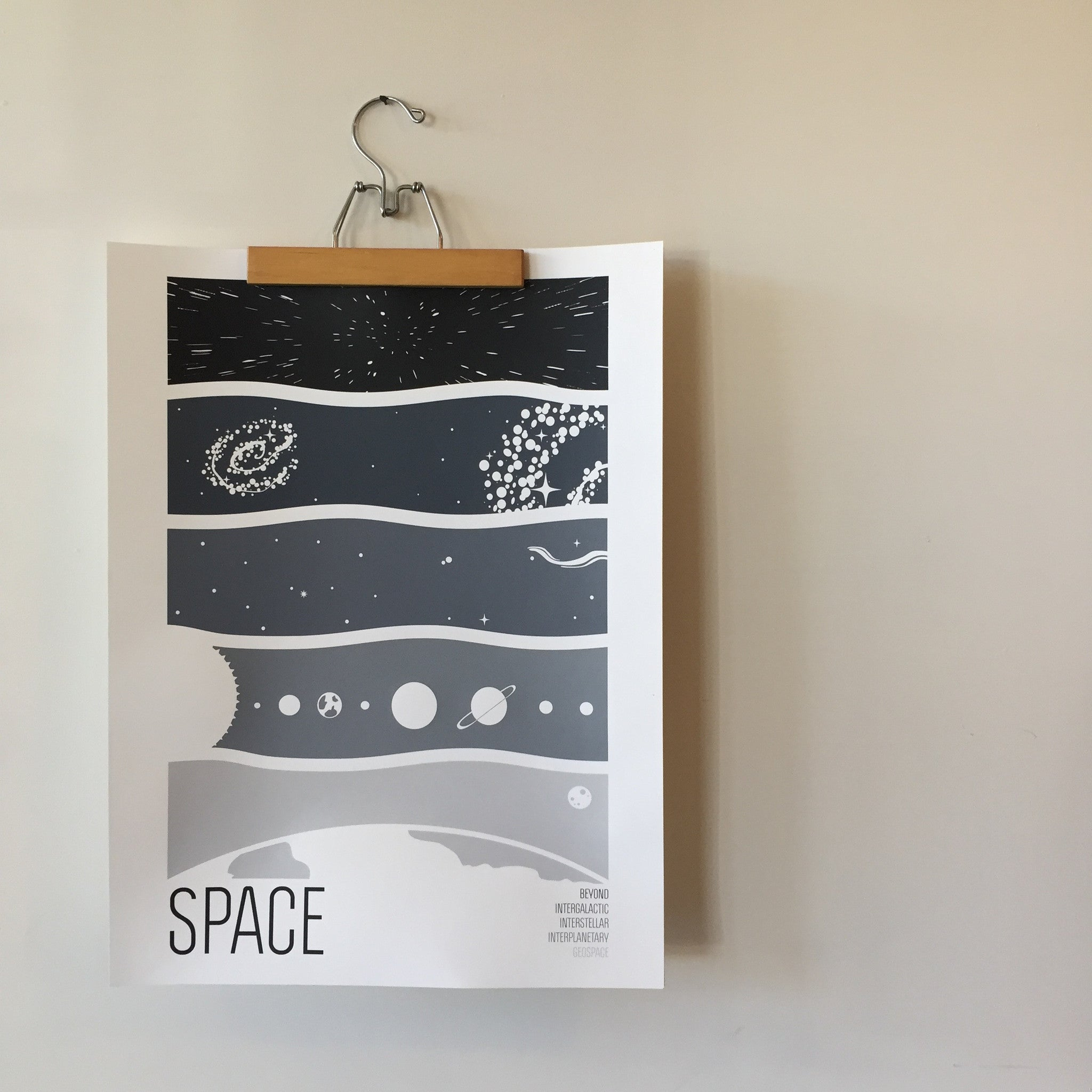 SPACE Screenprint by Brainstorm
