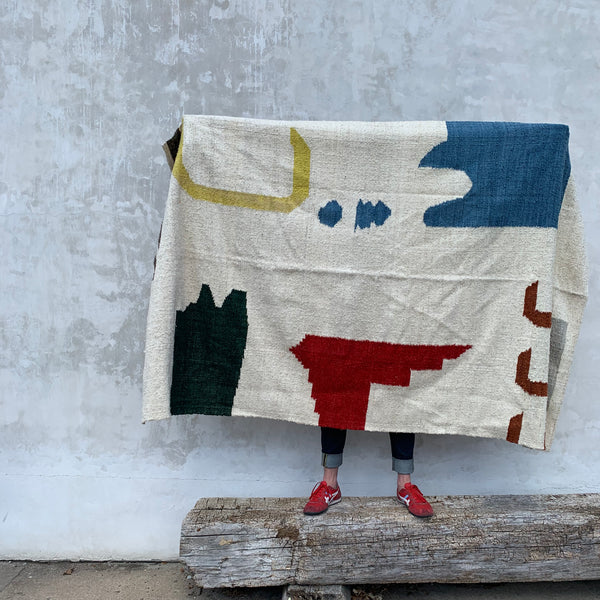 Island Notes Handmade Wool Rug by Meso Goods
