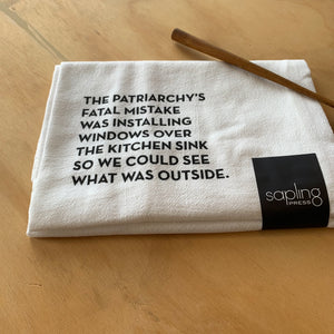 Kitchen Window Tea Towel by Sapling Press - Upstate MN