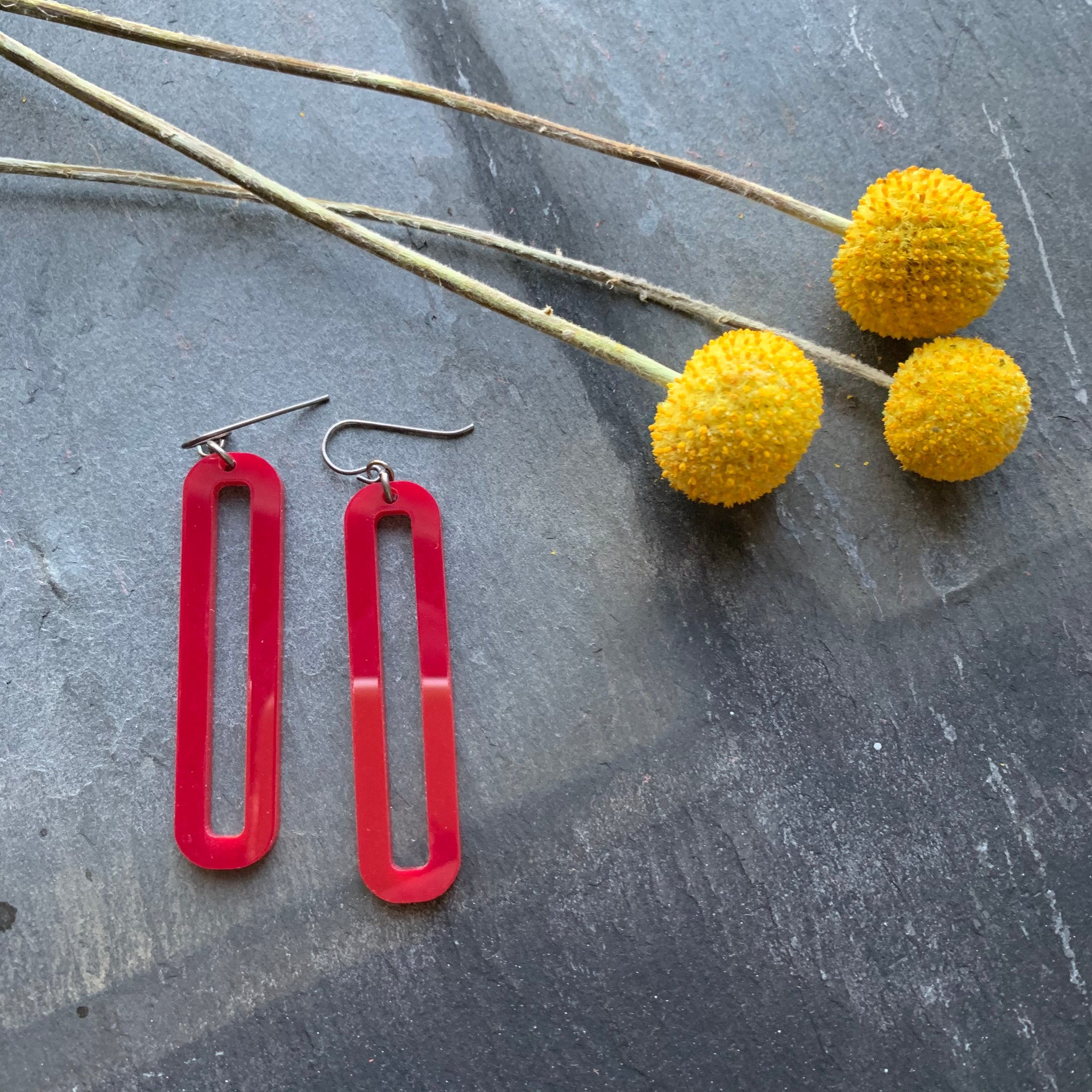 LINK Long Earrings by Silvercocoon - Upstate MN