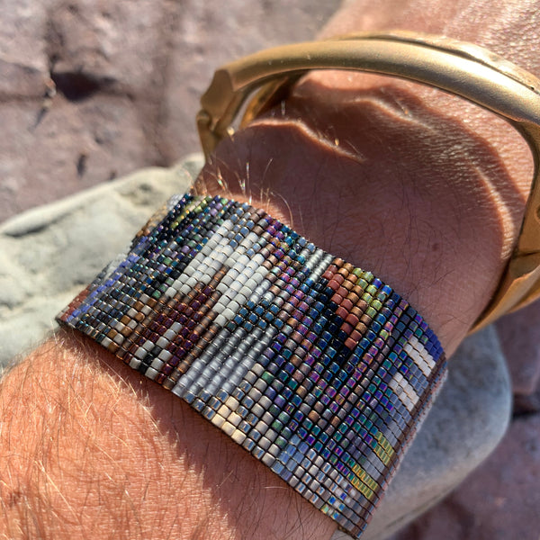 Large Kodiak Bead Mosaic Bracelet by Julie Rofman